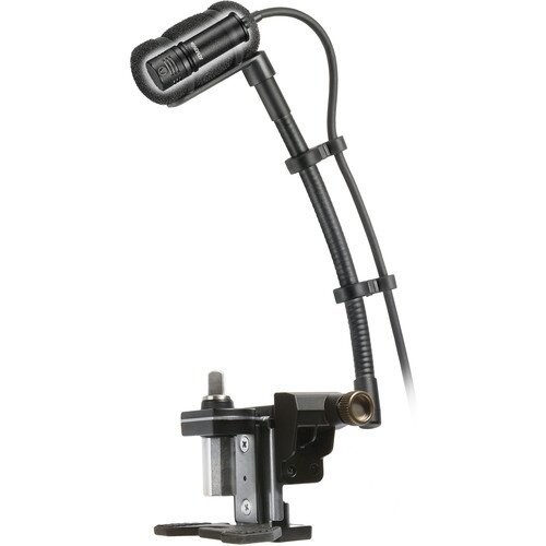 """Audio-Technica ATM350D Cardioid Condenser Instrument Microphone with Drum Mounting System (5"""" Gooseneck)"""