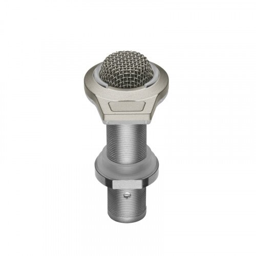 Audio-Technica ES945/LED Omnidirectional Condenser Boundary Microphone with Mute Switch and LED Indicator - Silver