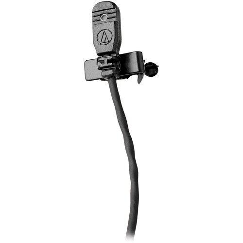 Audio-Technica MT830cH Omnidirectional Condenser Lavalier Microphone - Black