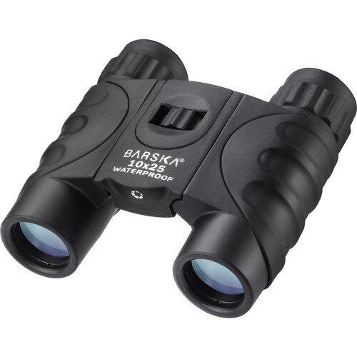 Barska 10x25mm Blue Waterproof Compact Binoculars - Black