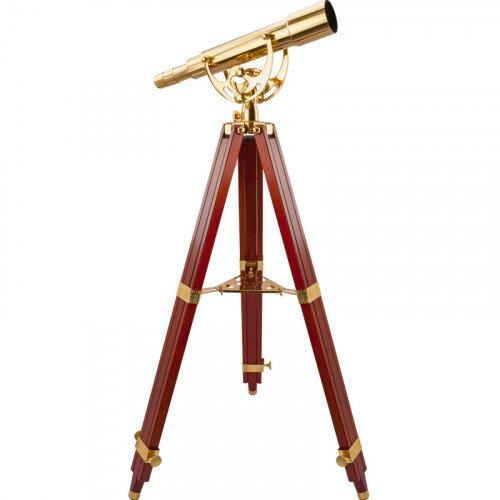 Barska 15-45x50mm Anchormaster Classic Brass Spyscope w/ Mahogany Tripod