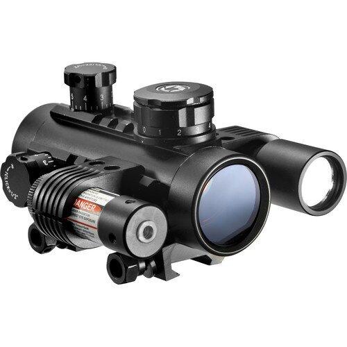 Barska 1x30mm Multi-Rail Sight w/ Flashlight and Red Laser