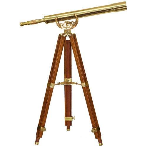 Barska 32x80mm Anchormaster Classic Brass Telescope Mahogany Tripod