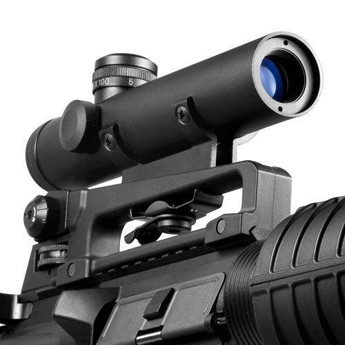 Barska 4x20mm Electro Sight Carry Handle Mil-Dot Rifle Scope w/ BDC Turret