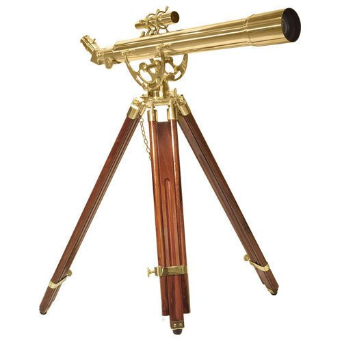 Barska 70060 28 Power Anchormaster Classic Brass Telescope w/ Mahogany Tripod
