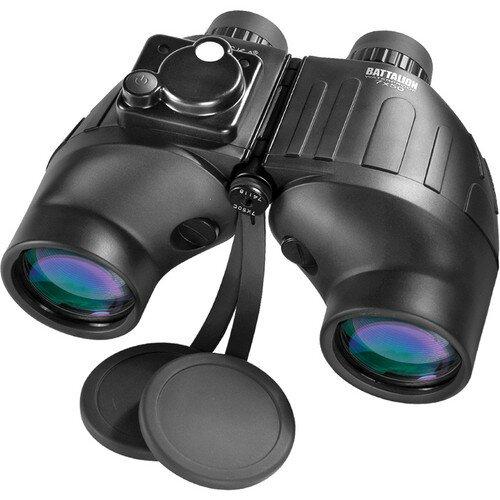 Barska 7x50mm WP Battalion Range Finding Reticle w/ Compass Binoculars