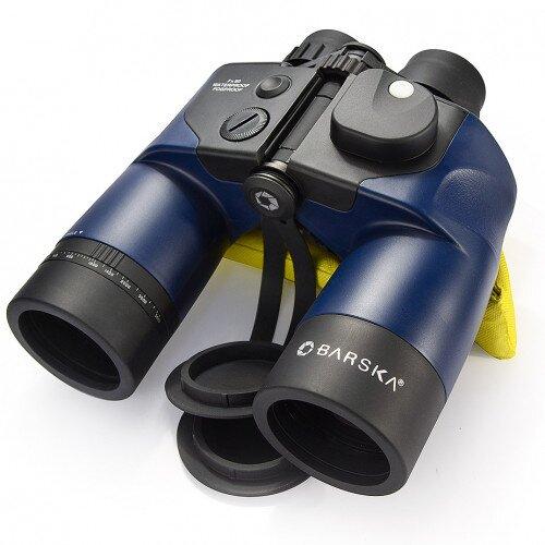 Barska 7x50mm WP Deep Sea Range Finding Reticle Digital Compass Binoculars
