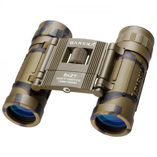 Barska 8x21mm Lucid View Compact Binoculars - Camo
