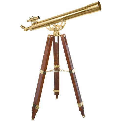 Barska 90080 36 Power Anchormaster Classic Brass Telescope w/ Mahogany Tripod