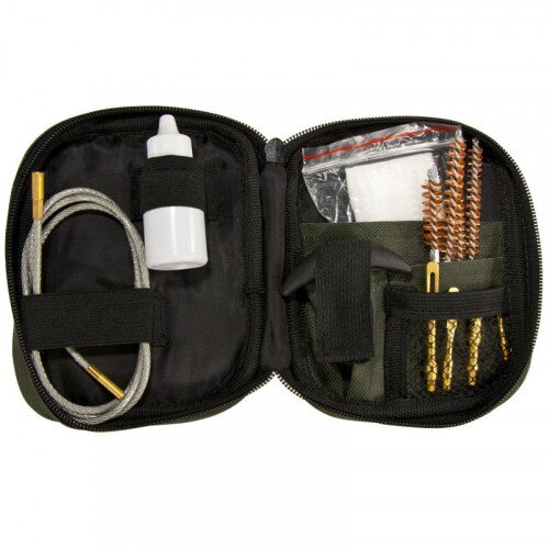 Barska Rifle Cleaning Kit w/ Flexible Rod and Pouch
