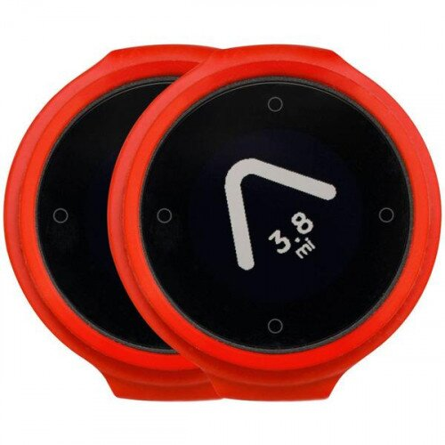 Beeline Velo Smart Waterproof and Wireless GPS for Bicycle - Hot Coal Red - Twin Pack