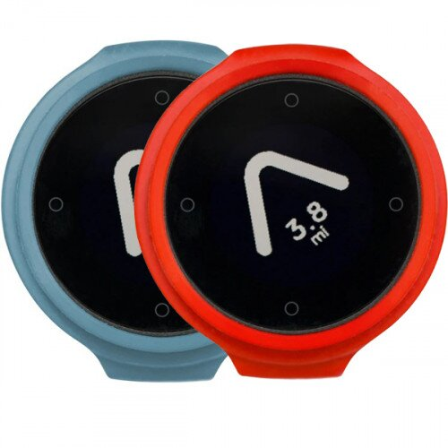 Beeline Velo Smart Waterproof and Wireless GPS for Bicycle Colour Pack - Blue/Red