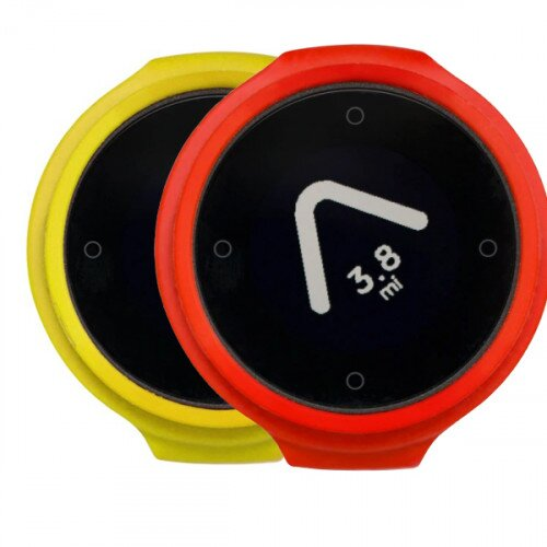 Beeline Velo Smart Waterproof and Wireless GPS for Bicycle Colour Pack - Yellow/Red