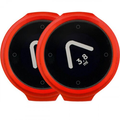 Beeline Velo Smart Waterproof and Wireless GPS for Bicycle Colour Pack - Red/Red