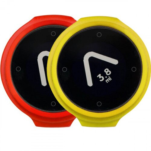 Beeline Velo Smart Waterproof and Wireless GPS for Bicycle Colour Pack - Red/Yellow