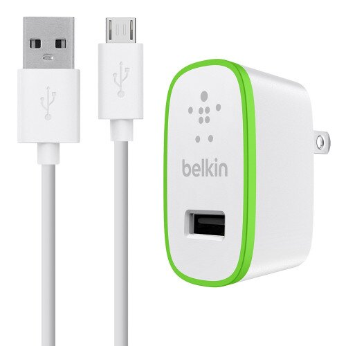 Belkin 12W USB-A Wall Charger + USB-A to Micro-USB Cable - White