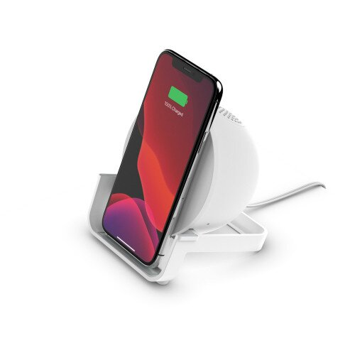 Belkin BOOST CHARGE Wireless Charging Stand + Speaker - White