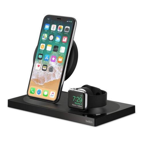 Belkin BOOST UP Wireless Charging Dock: Wireless Charging Pad + Apple Watch Dock - Black