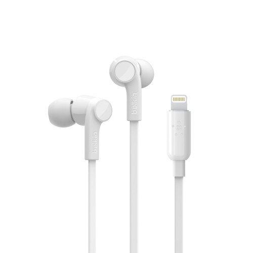 Belkin RockStar Headphones with Lightning Connector - White