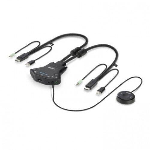 Belkin Secure 2-Port Flip DP-to-DP KVM with Audio PP 3.0