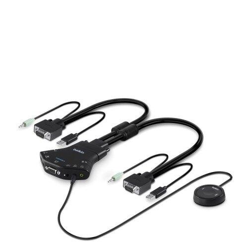 Belkin Secure Flip 2-Port VGA KVM w/Audio and Remote Controller