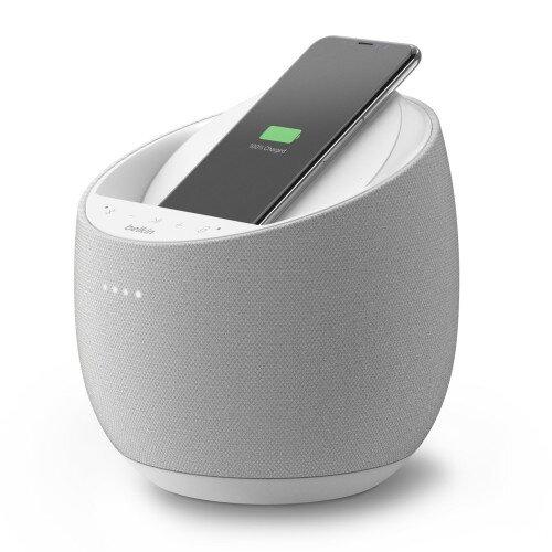 Belkin SoundForm Elite Hi-Fi Smart Speaker + Wireless Charger - White