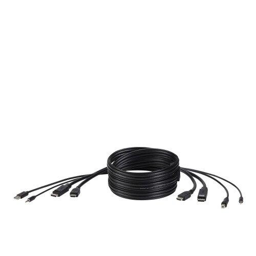 Belkin TAA DUAL (1) HDMI-HDMI (1) DP-DP/USB/AU CBL