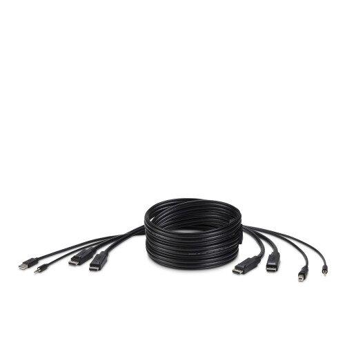 Belkin TAA DUAL DP/USB/AUD SKVM CBL DP M/M USB A/B - 10.0 - Feet