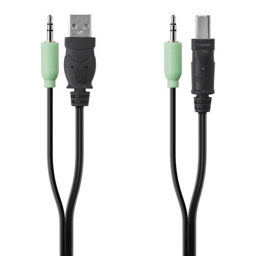 Belkin TAA USB/AUD SKVM CBL USB A/B 3.5mm AUDIO - 10.0 - Feet