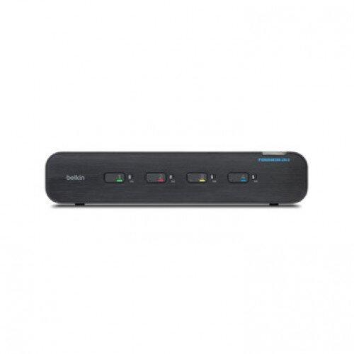 Belkin Universal Secure KVM Switch 4 Port Dual Head