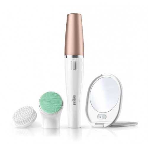 Braun FaceSpa 851V 3-in-1 Facial Epilating Cleansing & Vitalization System