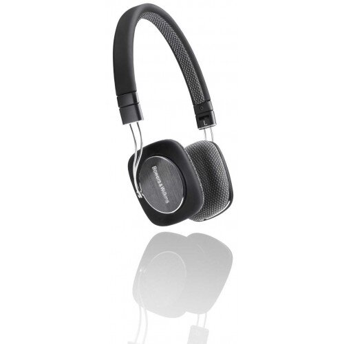 Bowers & Wilkins P3 On-Ear Wired Headphones - Black