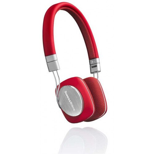 Bowers & Wilkins P3 On-Ear Wired Headphones - Red/Grey