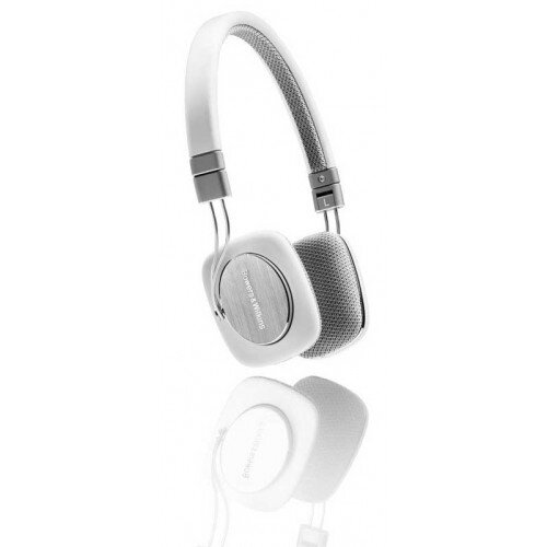 Bowers & Wilkins P3 On-Ear Wired Headphones - White/Grey