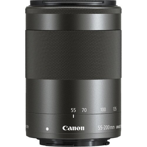 Canon EF-M 55-200mm f/4.5-6.3 IS STM Digital Camera Lens - Black