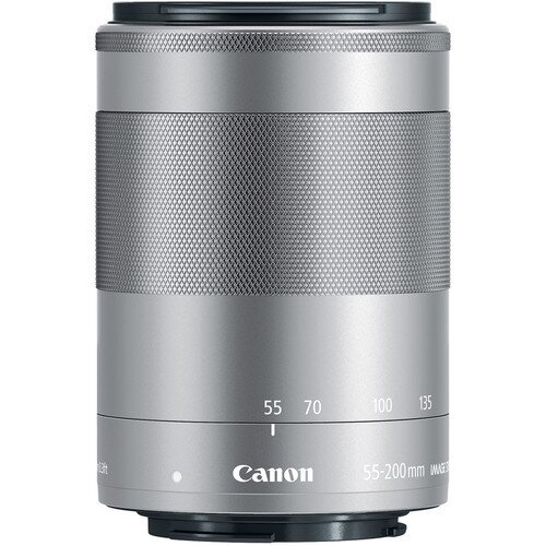 Canon EF-M 55-200mm f/4.5-6.3 IS STM Digital Camera Lens - Silver