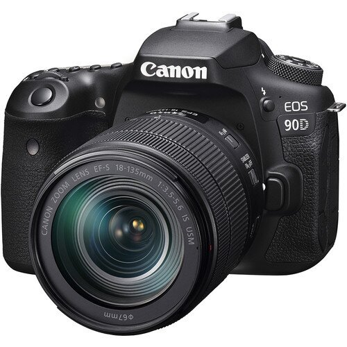 Canon EOS 90D Digital SLR Camera with 18-135mm Lens