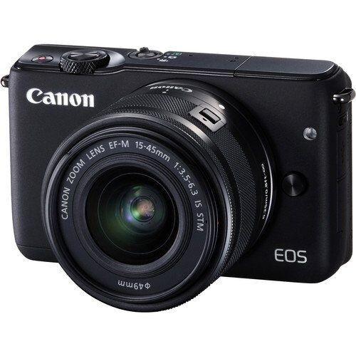 Canon EOS M10 EF-M 15-45mm f/3.5-6.3 IS STM Kit - Black