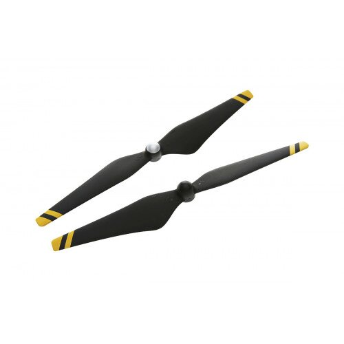DJI 9450 Carbon Fiber Reinforced Self-tightening Propellers - Composite Hub - Black with Yellow Stripes