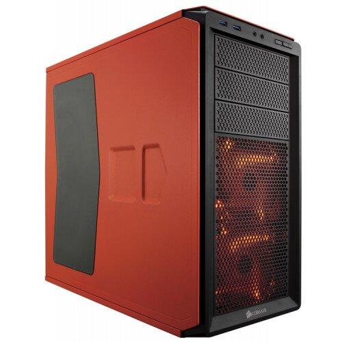 Corsair Graphite Series 230T Windowed Compact Mid-Tower Case - Rebel Orange