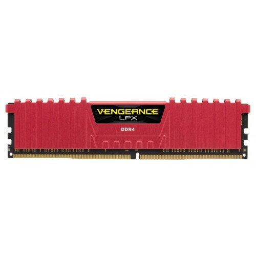 Corsair Vengeance LPX 16GB (4x4GB) DDR4 DRAM 3200MHz C15 Memory Kit - Red