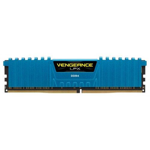 Corsair Vengeance LPX 16GB (4x4GB) DDR4 DRAM 2666MHz C16 Memory Kit - Blue