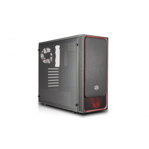 Cooler Master MasterBox E500L (Side Window Panel Version) Mid Tower Computer Case - Red