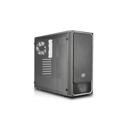 Cooler Master MasterBox E500L (Side Window Panel Version) Mid Tower Computer Case - Silver