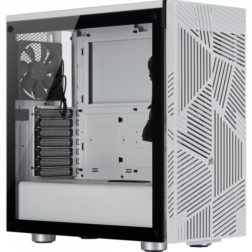 Corsair 275R Airflow Tempered Glass Mid-Tower Gaming Computer Case - White