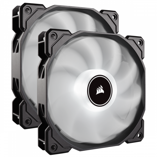 Corsair Air Series AF120 LED (2018) Case Fan - White - Twin Pack - 140mm x 25mm
