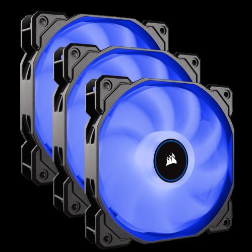 Corsair Air Series AF120 LED (2018) Case Fan - Blue - Triple Pack - 120mm x 25mm
