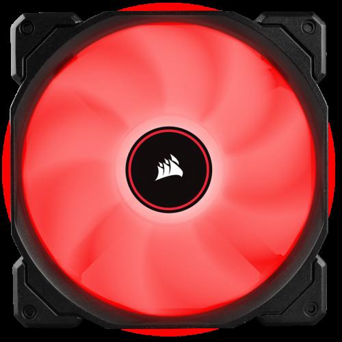 Corsair Air Series AF120 LED (2018) Case Fan - Red - Single Pack - 140mm x 25mm