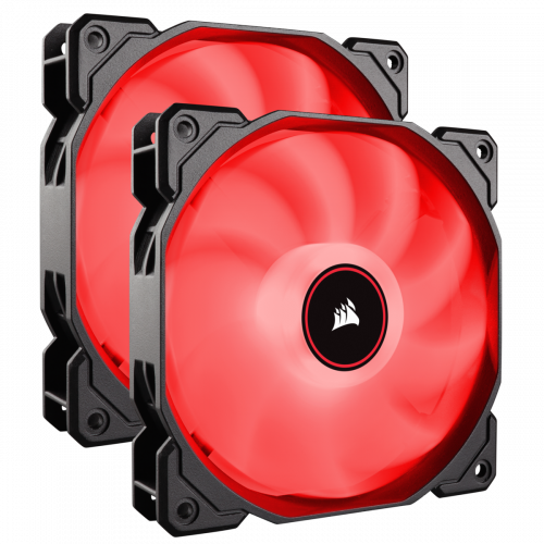 Corsair Air Series AF120 LED (2018) Case Fan - Red - Twin Pack - 140mm x 25mm