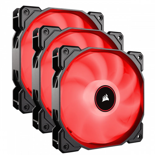 Corsair Air Series AF120 LED (2018) Case Fan - Red - Triple Pack - 120mm x 25mm
